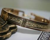 Gold,Copper and Silver bangle Bracelet