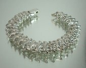 Unique Reversible Silver Bracelet Vintage Jewelry