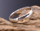 Sterling Silver Thumb Ring, Hammered.  Silver band ring.  Made to Order.