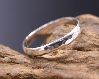Sterling Silver Thumb Ring, Hammered, Custom Order