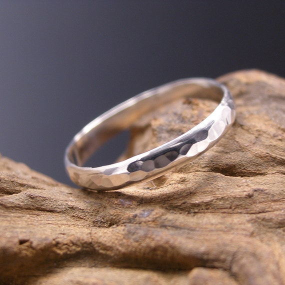 sterling silver thumb ring hammered made to order