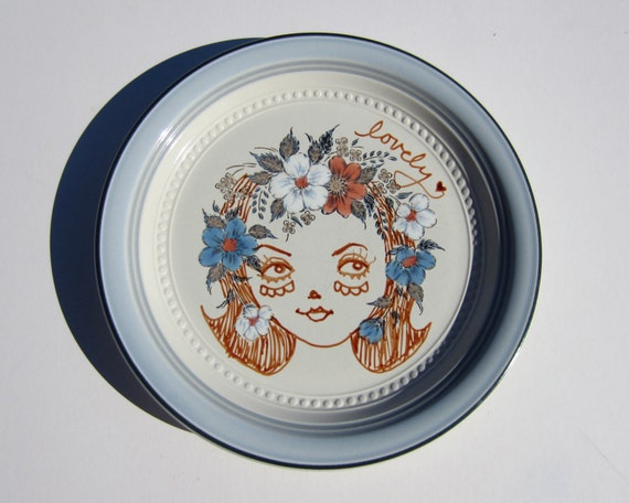 A Lovely Girl Plate No. 1... Hand Painted and Foodsafe