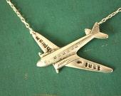 Mini Wanderlust Silver Plane Silver Chain