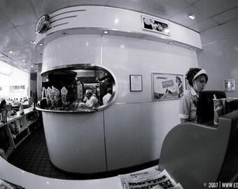 the diner - original fine art photograph 8x12