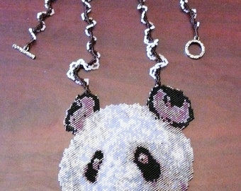 Peyote pattern for my Panda Necklace