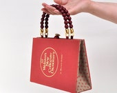 Webster's New Collegiate Dictionary Book Purse made from recycled vintage text book