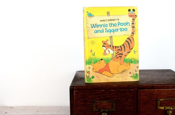 Kindle or Nook Cover-Winnie the Pooh- made to order device case custom made from recycled vintage book