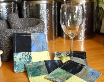 Scrappy Modern Coasters - Set of Four