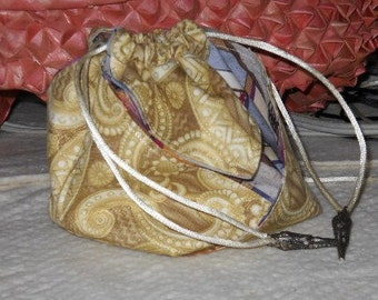 Drawstring Oragami Bag/Pouch - Asian Gold