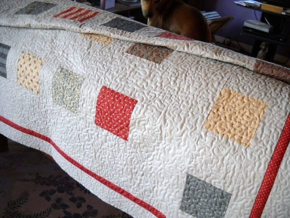 Vintage Meets Contemporary - Lap Quilt