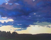 Borrowed Vista-Large Original Oil Painting on Canvas by Jennifer Greenfield