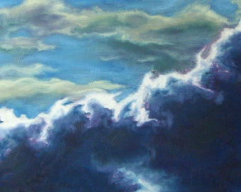 Cinematic Sky II- Huge Skyscape Original Oil Painting on Canvas
