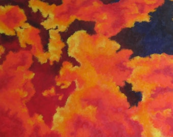 Turbulent- HUGE Original Sky Oil Painting on Canvas
