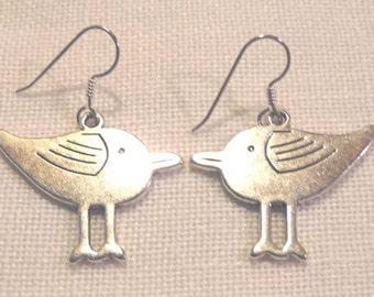 Tibet Silver Earrings / Birds