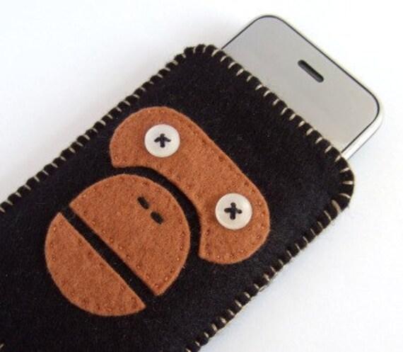 iPhone Case Felt Ape Brown Black