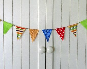 Soft Rainbow Fabric wedding cake Mini Bunting Spool of by edeenut