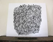 Muscle // Abstract Original Pen and Ink Drawing
