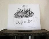 Cup o' Joe // Original Pen and Ink Drawing