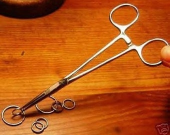 Small 3-1/2 inch Jewelry - Hemostat - Locking Tweezers - For Hot Jump Ring Soldering save fingers