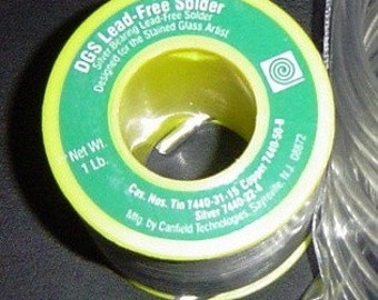 Full Pound Roll of Canfield DGS has SILVER Lead Free Solder.  Less expensive alternative for jewelry solder art