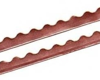 9 feet of WAVY EDGE Copper Foil Tape for Solder Art Pendants Charms etc. A Decorative Scalloped Edge.  1 Pack  is 3 Yards Long