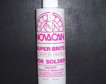 8 oz. COPPER PATINA, Changes the Silver colored Solder to a Brite COPPER Color