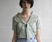 cotton blouse rainy day plaid- supayana tie top