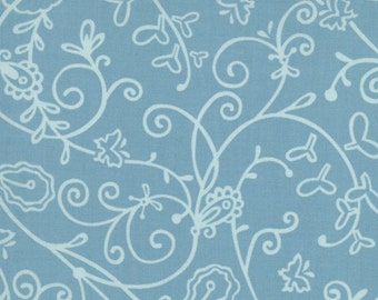 Moda Chrysalis by Sanae Vines Turquoise cotton Fabric by the yard 32423-16