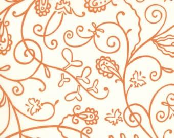 Moda Chrysalis by Sanae Vines Cream Orange cotton Fabric by the yard 32423-26
