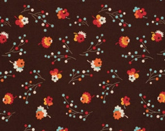 Denyse Schmidt Flea Market Fancy Legacy Collection Brown Posie cotton Fabric by the yard