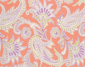 Amy Butler Gypsy Caravan Turkish Paisley Tangerine Cotton Fabric by the yard from shereesalchemy