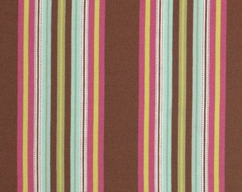 Amy Butler Gypsy Caravan Gypsy Hammock Stripe Mocha cotton Fabric by the yard