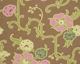Amy Butler Gypsy Caravan Gypsy Velvet Vine Almond cotton Fabric by the yard