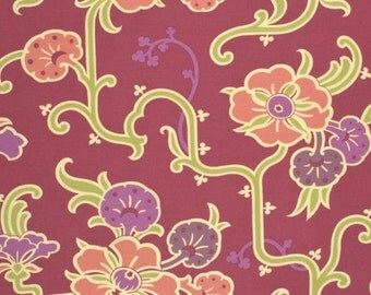 Amy Butler Gypsy Caravan Gypsy Velvet Vine Grape cotton Fabric by the yard