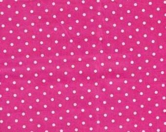 Atelier Akiko by Lecien Pink White Polka Dot Dots Cotton Sateen Fabric Japanese