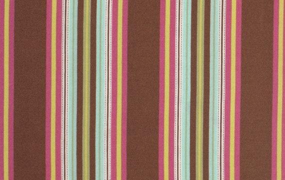 Amy Butler Gypsy Caravan Gypsy Hammock Stripe Mocha cotton Fabric by the yard