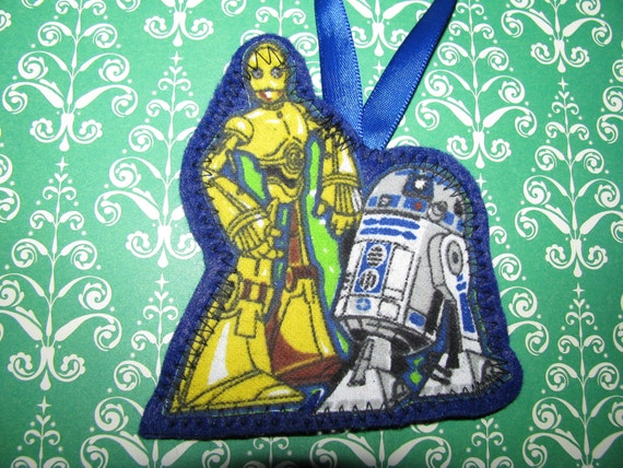 STAR WARS C3P0 and r2d2 Ornament