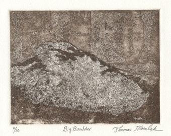 BIG BOULDER original limited edition etching