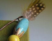 Safety Pin with Feathers