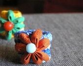SALE - Ric Rac Flower Ring