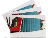 Accordion and Penguin Postcards - Set of 6