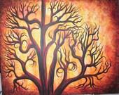 Tree Art, Wall art,Original Acrylic painting by Jordanka Yaretz, UNICEF artist