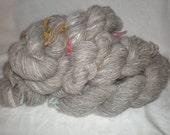 Natural Brown and Greys 100 percent Angora yarn, 3 ply, 2 ounce ball