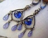 Tanzanite and Kyanite Earrings