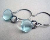 Smooth Blue Earrings