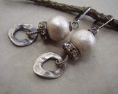 Vintage Cotton Pearl Earrings