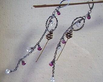 Garnet and Glitz Earrings