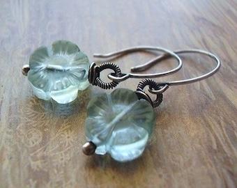 Icy Blue Flower Earrings