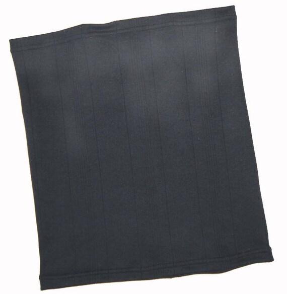Black Ribbed Cotton Jersey Neckwarmer Sports Gaiter UNISEX COWL
