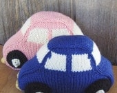 Waldorf Toy - HandKnit Car - Chubby and Plump, All Natural - Great baby shower gift, or toddler toyHoliday Kids Toys